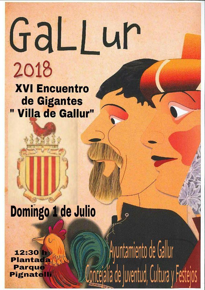 CARTEL XVI ENCUENTRO DE GIGANTES VILLA DE GALLUR