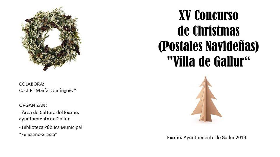 XV CONCURSO DE CHRISTMAS O POSTALES NAVIDEÑAS VILLA DE GALLUR